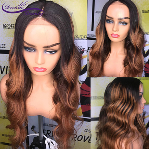 Image 2 - 180% Colored Human Hair Wigs Brown Color Wigs 13X4 Body Wave Remy Preplucked Ombre Brown Lace Front Wig Preplucked Dream Beauty