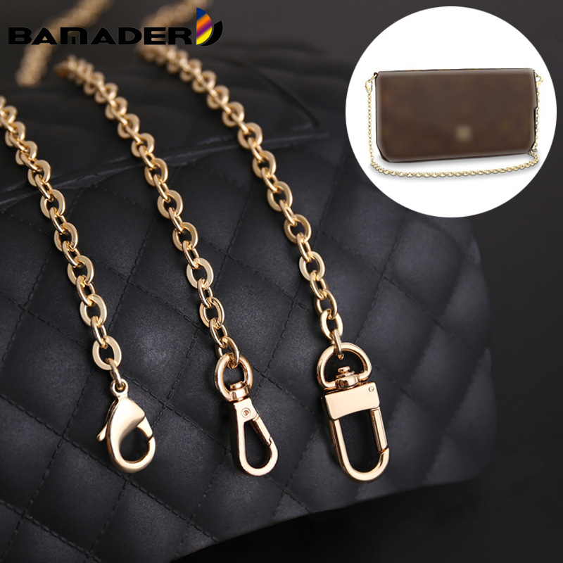 BAMADER Chain Straps High-end Woman Bag Metal Chain Fashion Bags Accessory DIY Bag Strap Replacement Luxury Brand Chain Straps