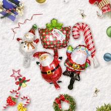 Wesołych świąteczne balony święty mikołaj balon foliowy ozdoby choinkowe dla domu 2020 Navidad 2020 prezenty bożonarodzeniowe nowy rok 2021 tanie tanio Bez pudełka New Year 2021 christmas christmas decorations for home christmas ornaments kerst christmas tree decorations