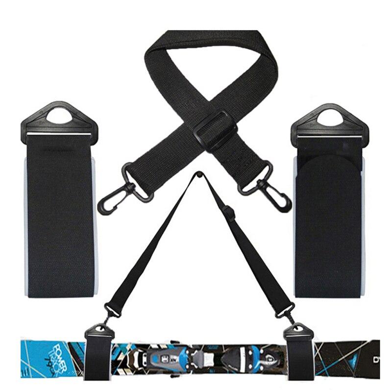 Ski And Double Cross Country Carrier Shoulder Sling Detachable  Nordic Holder Straps Belt Alpine For Ski Board  Skis & Poles