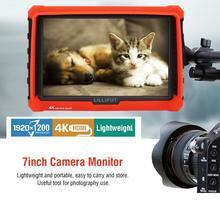ليليبوت A7S 7 بوصة IPS شاشة 1920*1200 4K شاشة عالية الدقة بشكل كامل شاشة كاميرا 170 درجة زاوية واسعة كاميرات DSLR