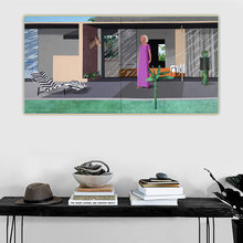 Citon David Hockney《Beverly Hills Housewife》Canvas Oil Painting Artwork Poster Picture Wall Background Decor Home Decoration