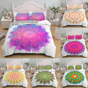 Mandala Bed Covers Printed Bedding Sets Bohemia Style Duvet with Pillowcases Adult Girl Single Queen King