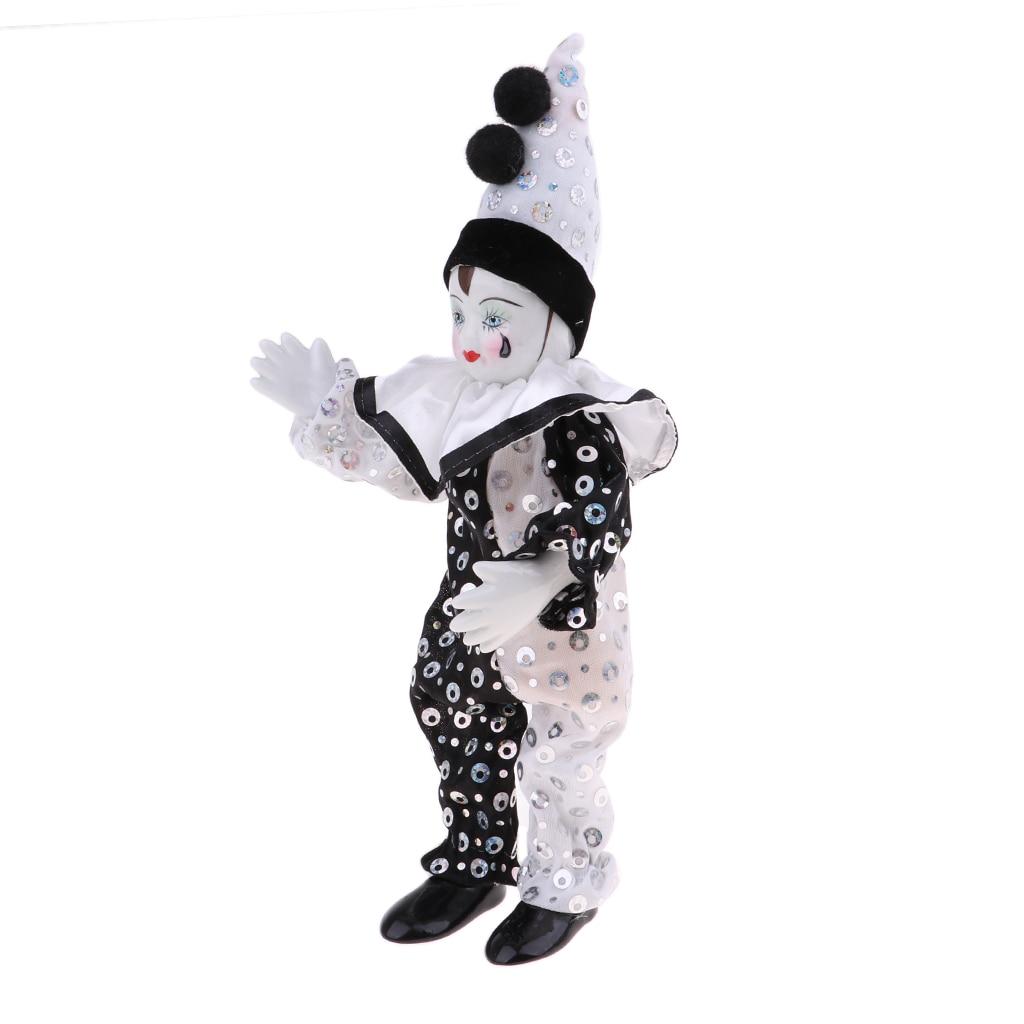 23cm Clown Mann Action Figure Puppe Halloween Ornamente Hause Tisch Schreibtisch Dekor