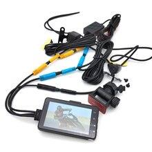 3 дюймовый ЖК дисплей 140 ° (передняя и задняя) для мотоцикла