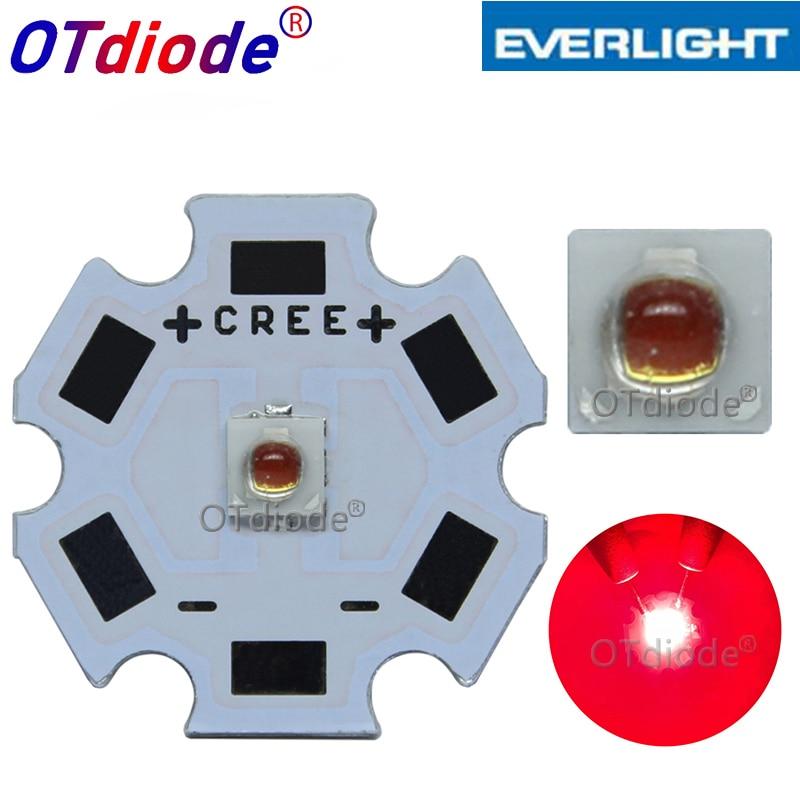 10-100PCS 3W Deep Red 3535 660nm Everlight SMD Plant Grow LED Light  Led Emitter For Indoor Garden Plant Grow Aquarium Spotlight