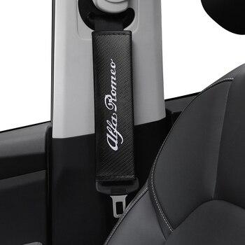 Almohadillas de fibra de carbono para cinturón de seguridad de coche, almohadilla...