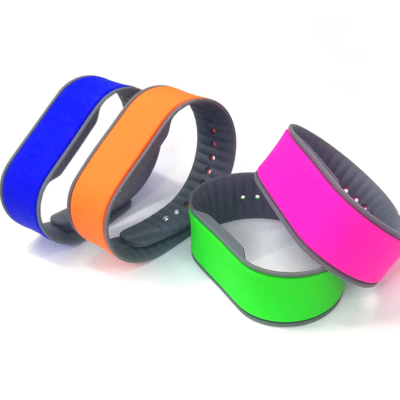 13.56MHZ Mifare Classic 1K RFID Silicone Wristband 14443A