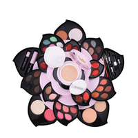 New Upgrade Rotating Big Rose Makeup kit,Fashion cosmetics set,Solid Lipstick,WaterProof Mascara,Magic Eyeshadow,Charming Powder