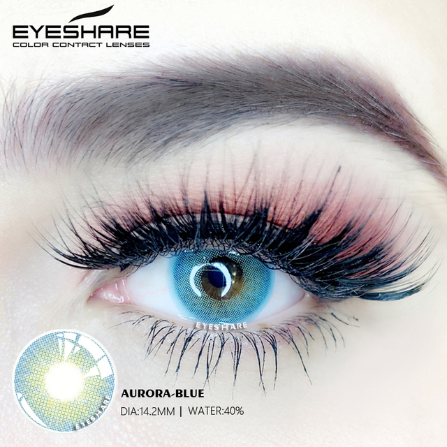 EYESHARE- 1 Pair Bitas Ocean Color Beautiful Pupil Contact Lenses Cosmetic Contact Lens Eye Lenses(2pcs) 3