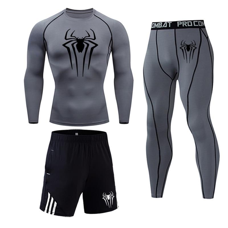 Men Thermal Underwear Quick Dry Warm Long Johns Set Male Warm Fitness Thermo Underwear Set Spiderman Marvel Men's Underwear