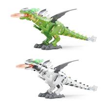 Upgraded Spray Machinery Dinosaur Easy To Install And Use Mechanical Fuselage Design High-quality ABS Materials 26 #215 9 5x15cm cheap electronic Other Plastic Dinosaurs Unisex Battery Operated 3 years old Spray Dinosaur 350g 26*9 5*15cm Dinosaurio juguete Robot