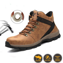 Men's Boots Work-Shoes High-Top Wear-Resistant Anti-Smashing
