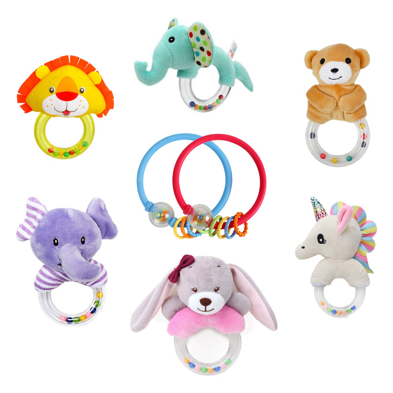 Baby Rattles Beanbag Baby Toys For Newborns 0-12 Months Hand Bell Animal Ringing Education Toy Parent- Child Toys