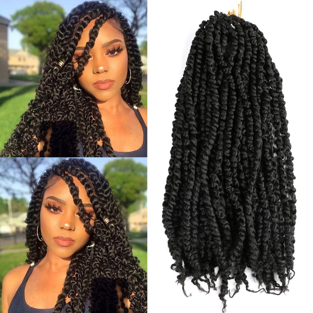 Synthetic Crochet Braiding Hair Passion Twist X2 Braids Faux Locs Braiding Hair Heat Resistant Synthetic Fiber Crochet Braids