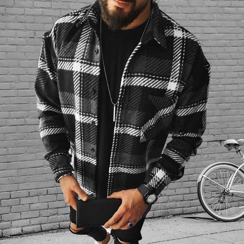 Мужская повседневная фланелевая рубашка в клетку, мягкая удобная приталенная куртка с длинным рукавом, кардиган, рубашка, весна 2021