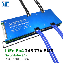 24S 72V Lithium battery 3.2V power protection board temperature protection equalization function overcurrent protection BMS PCB