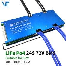 Batería de litio de 24S 72V Placa de protección de energía de 3,2 V protección de temperatura Función de ecualización protección contra sobrecorriente BMS PCB