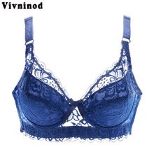 Cotton Bra Floral Lace Sexy Bras Plus size Women Ultra thin Underwear Deep V Size 75CD-105CD Push up