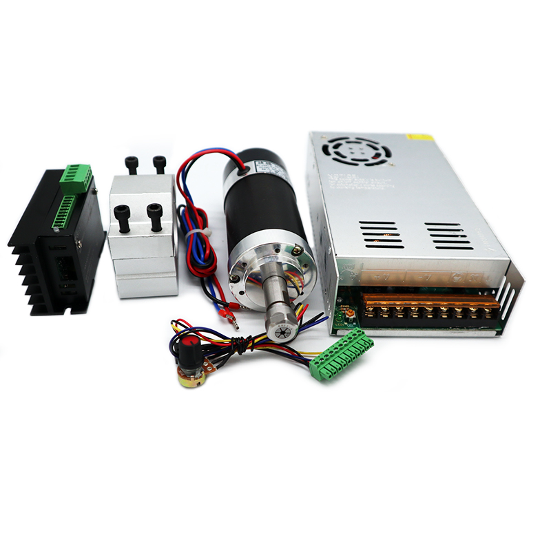 Бесплатная доставка ER11 цанговый 52 мм PCB 500W четырехтактный двигатель с воздушные охлаждением бесщеточный электродвигатель вращения шпиндел...