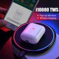 i10000 tws wireless earphone bluetooth 5.0 headset wireless charger sports earbuds PK AirPoder i11 i12 i500 i3000 i9000 pro tws