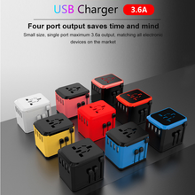 Universal Power Adapter Charger Plug Multi-function PD 18W 4 USB Outlet Travel Power Charger Socket Converter For EU/US/UK/AU