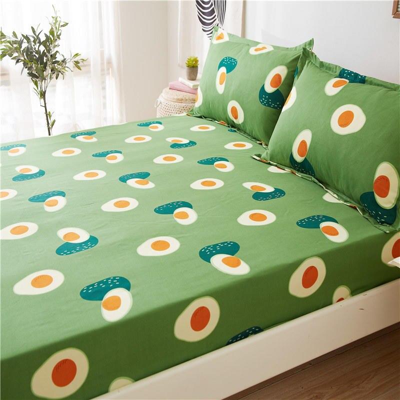 Авокадо постельное белье 1 шт простыней на кровать зеленый авокадо печатных простыня наматрасник с Эластичная лента постельного белья (без наволочки)-1