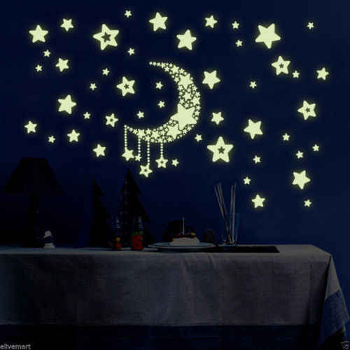Glow In The Dark Stars Wall Stickers Star Glow In The Dark Wall Paper Kids Room Decor Bedroom Poster Stranger Things Poster