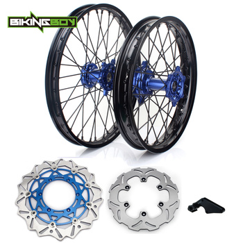 "BIKINGBOY 21"" 18"" Front Rear Wheels Rims Hubs Discs Disks Bracket For Yamaha YZ 250 450 F 2009 2010 2011 2012 2013 2014 2015"
