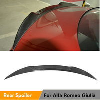 Carbon Fiber / FRP Rear Spoiler Trunk Boot Lip Wing Spoiler for Alfa Romeo Giulia Sedan 2015   2018 Quadrifoglio Verde|car rear spoiler|rear spoilerspoiler trunk -