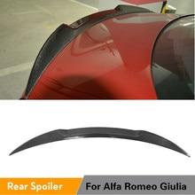 De fibra de carbono/FRP Spoiler trasero alerón para maletero alerón de ala para Alfa Romeo Giulia sedán 2015 - 2018 Quadrifoglio Verde