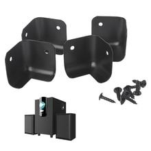 4 Pçs/lote AMP Amplificador Canto Speaker Cabinet Ângulo Protetor de Caixa de Som 2 Buracos