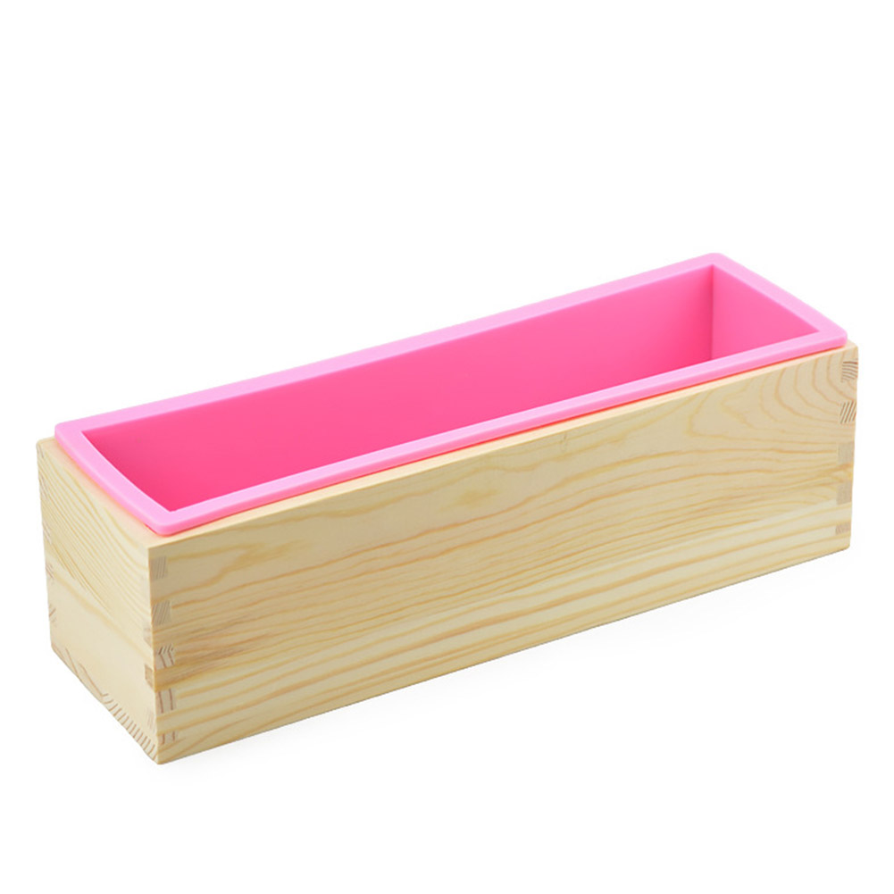 Loaf Soap Mould Silicone Wooden Mold Soap Making Tools Slicer Cutter DIY Carfts DEC889