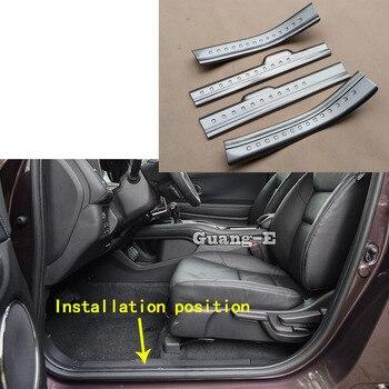Top Quality Car Stainless Steel Pedal Door Sill Scuff Plate Inner Cover Inside Threshold 4pcs For Honda HRV HR-V Vezel 2019 2020
