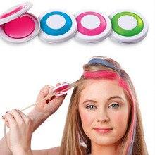 Hot 4 Kleuren Haar Kleur Haar Krijt Poeder Europese Tijdelijke Pastel Hair Dye Kleur Verf Beauty Soft Pastels Salon