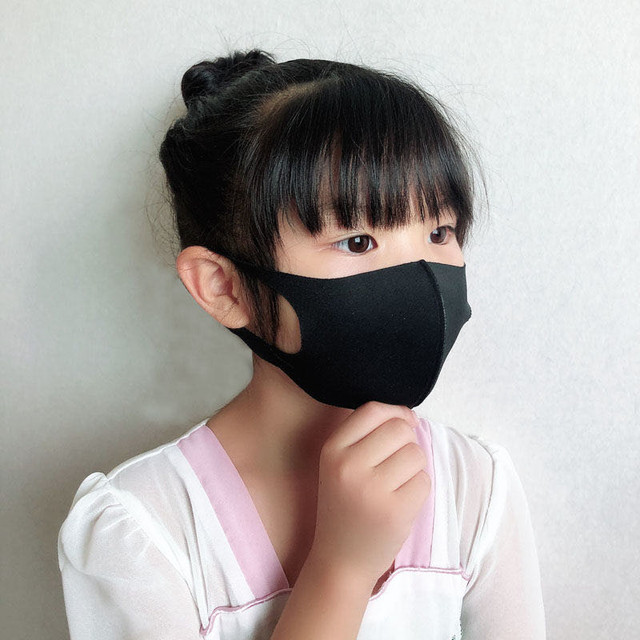 2pcs Multi-Style Kids Solid Kpop Cotton Mouth Mask Anti dust Mouth-muffle Washable Black Mask On Face For Adult Respirator Mask 1