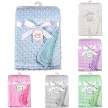 Get more info on the Soft Newborn Baby Blanket Dual Layer Embossed Fleece Bubble Warm Soft Infant Baby Breathable Cover Blanket