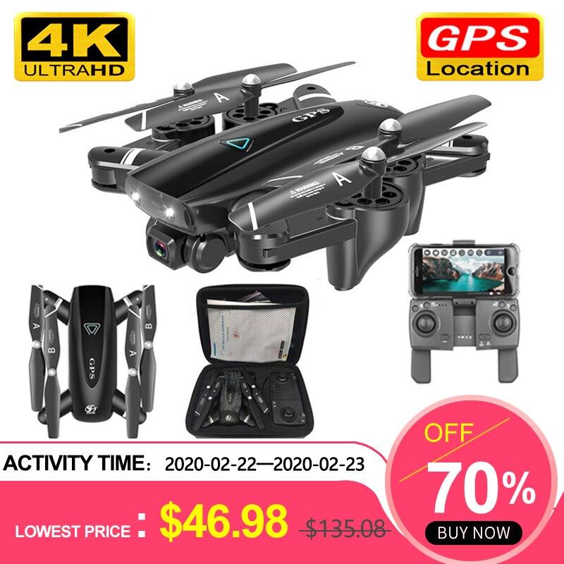 S167 GPS Drone avec caméra 5G RC quadrirotor Drones HD 4K WIFI FPV pliable hors Point vol Photos vidéo Drone hélicoptère jouet