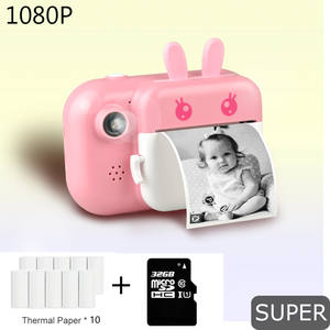 HD 1080P 24MP Children Instant Print Camera For Kids Polaroid Camera With Thermal Photo Paper Toys Camera For Birthday Gifts