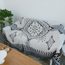 Northern European-Style Sofa Cover Living Room Casual Sofa Cushion Blanket Ethnic-Style Bed Blanket Tapestry INS Popular Retro B
