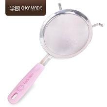 CHEFMADE hello kitty Авторизованная Лицензия 304 нержавеющая сталь 30 Сетка фильтр муки сито розовые сита для выпечки инструменты для тортов