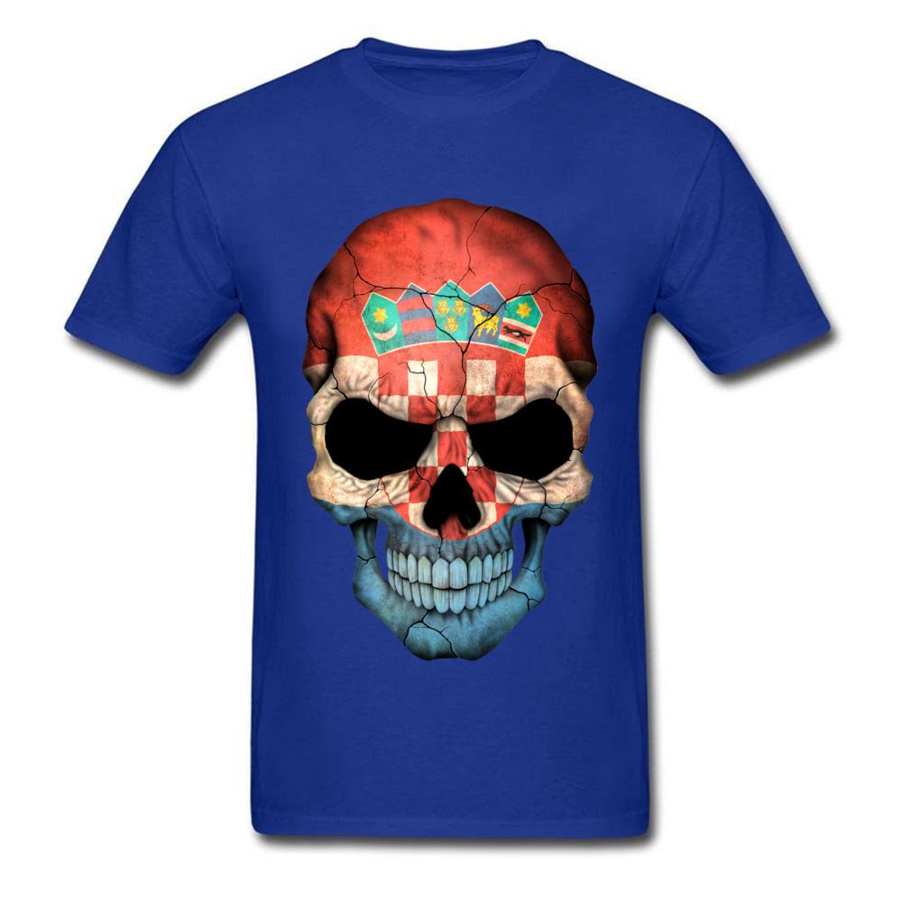 Croatian Flag Skull_blue