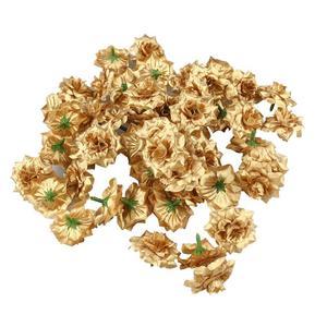 50pcs Artificial Flowers Silk Rose Flower Heads Fake Flowers for Hat Clothes Album Embellishment Wedding Decoration