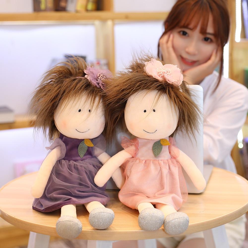 35cm/45cm New Cute cartoon Little sister Plush dolls girl in the skirt Doll Kids girls toys Children Birthday Christmas gifts