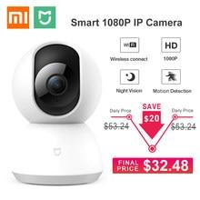 Atualizado xiaomi mijia mi câmera ip inteligente 1080p hd wifi 360 ângulo de visão noturna pan-tilt vídeo webcam bebê monitor de segurança em casa