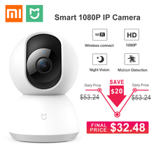 更新xiaomi mijiaミスマートフォンipカメラ1080p hd wifi 360角度ナイトビジョンパン · チルトビデオカメラベビーホームセキュリティモニター