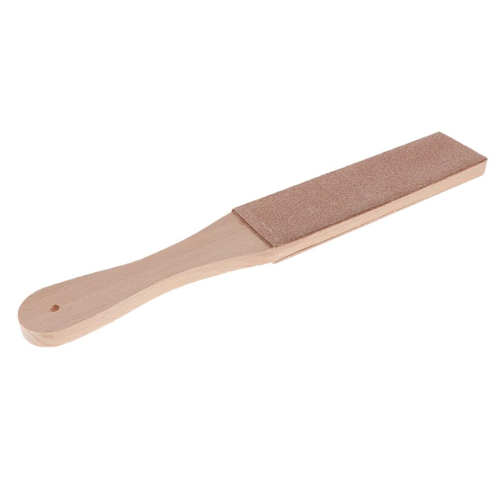 Деревянная ручка кожа точильный ремень для бритвенных ножей без лака соединение инструменты