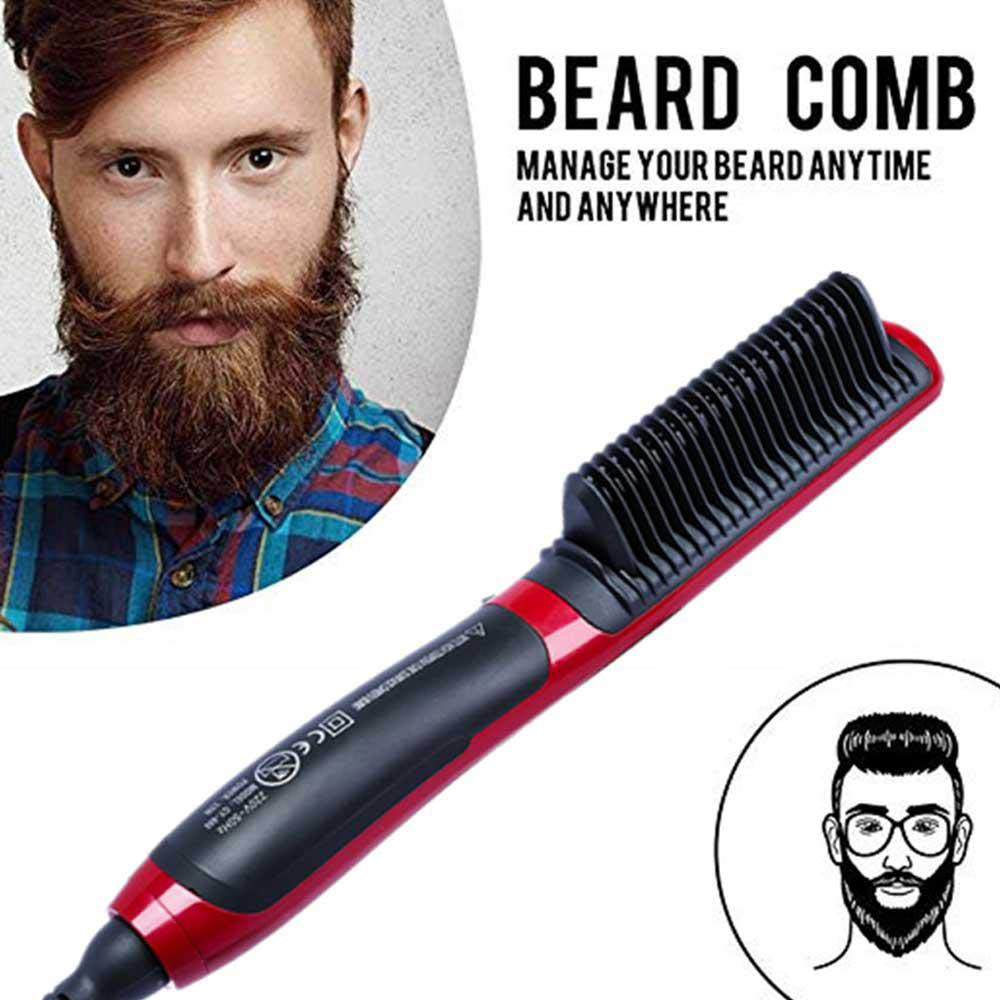 Hair Beard Straightener Styler Hot Comb Ceramic Massage Straightening Irons Electric Multifunctional Brush Styling Machine