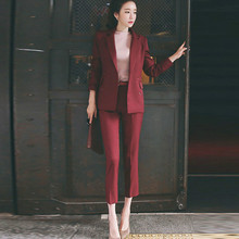Autumn and Winter Thickened Fabric Slender Small Suit Outfit/Office Ladies