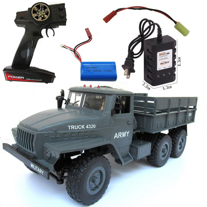 Kuulee MZ YY2004 15KM/H 2.4G 6WD 1/12 Military Truck Off Road RC Car Crawler 6X6 Toys RC Models For Kids Birthday Gift image